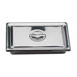 S/Steel Ware Instrument Tray with Lid 200 x 130 x 50mm
