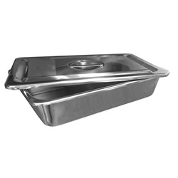 S/Steel Ware Instrument Tray with Lid 300 x 200 x 65mm