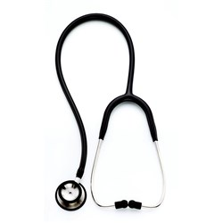 W.A Professional Dual Head Stethoscope Black