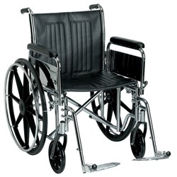 "Wheelchair Heavy Duty Bariatric 24"" 600mm Seat 200kg Sentra"