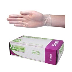 Vinyl Gloves Low Powder Clear N/Sterile Small