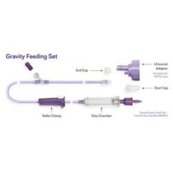 Flocare Gravity Pack Set Y Port & Drip Chamber C30